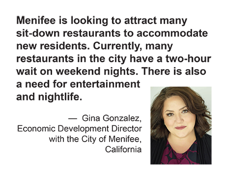 Quote: Menifee is looking to attract many sit-down restaurants